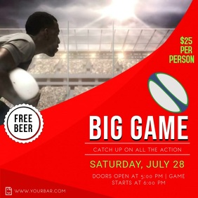 Big Game Rugby Screening Instagram Video