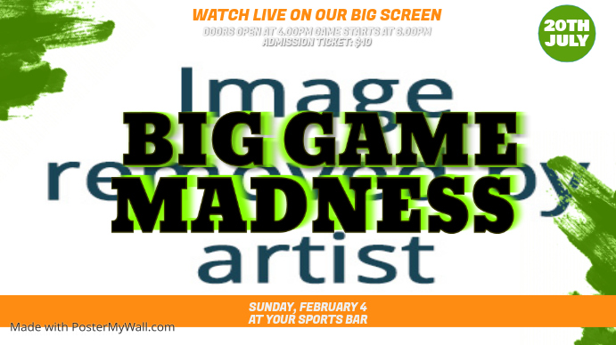 Big Game Watch Party Ad Template