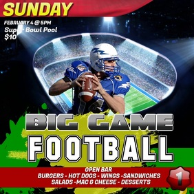 Big Game Watch Party Instagram Video Template