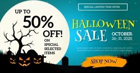 Big Halloween Sale auf Facebook geteiltes Bild template