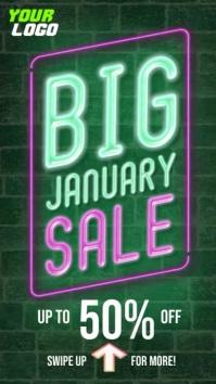 Big January Sale Retail Instagram Story Indaba yaku-Instagram template