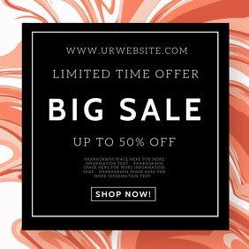 BIG MEGA SALE EVENT Flyer Template 方形(1:1)
