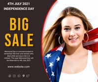 big sale american memorial day 4 july 2021 巨型广告 template