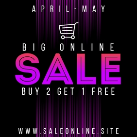BIG SALE BANNER Instagram 帖子 template