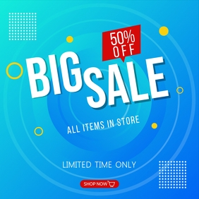 BIG SALE BANNER FOR INSTAGRAM POST template