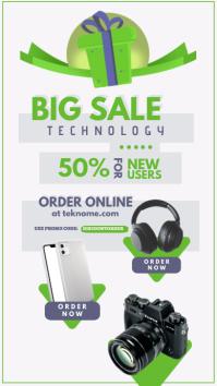 Big sale campaign ad design Tampilan Digital (9:16) template