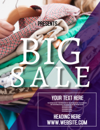 Big sale clothing Event Flyer template