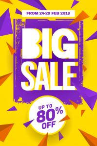 Big Sale Discount Poster Flyer Promotion Template