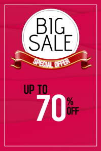 Big sale discount poster