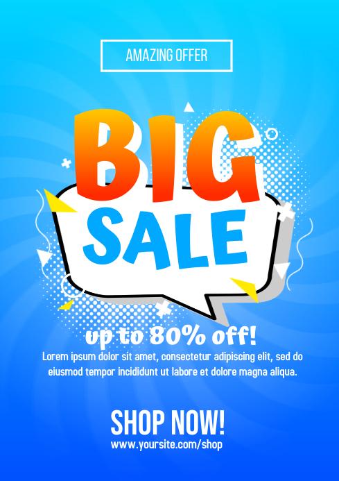 Big Sale Flyer A4 template