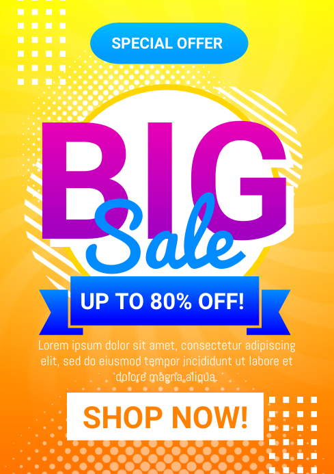 Big Sale Flyer A4 template