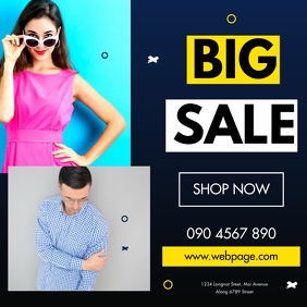 BIG SALE FLYER Pos Instagram template