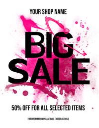 Big Sale Flyer 传单(美国信函) template