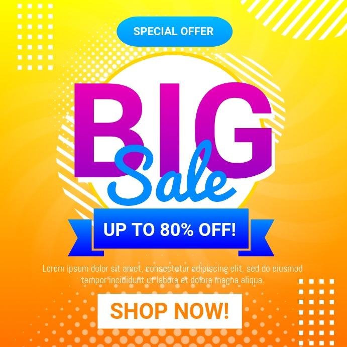 Big Sale Flyer Instagram Post template