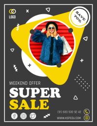 Big sale offer social media banner Flyer (US Letter) template