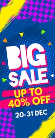 Big Sale Roll Up Banner