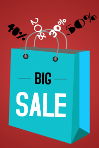 big sale shopping bag template