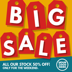 Big Sale Tag Square Ad