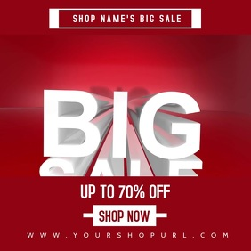 big sale video template