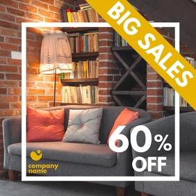 big sales furniture design template Instagram Post
