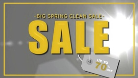 Big Spring Clean Sale Facebook Cover Video Template