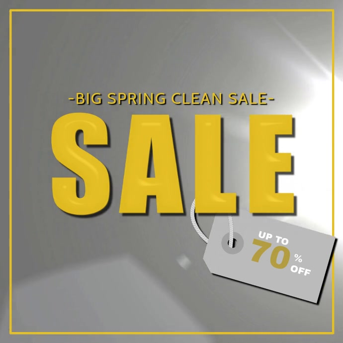 Big Spring Clean Sale Instagram Video Post Template