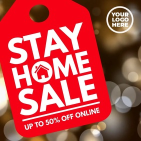 Big Stay at Home tag Sale Instagram Facebook