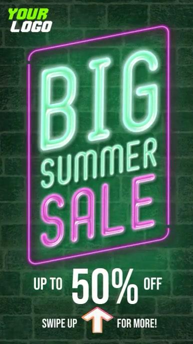 Big Summer Sale Instagram Story template