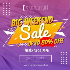 Big Weekend Sale Social Media Template Instagram Plasing