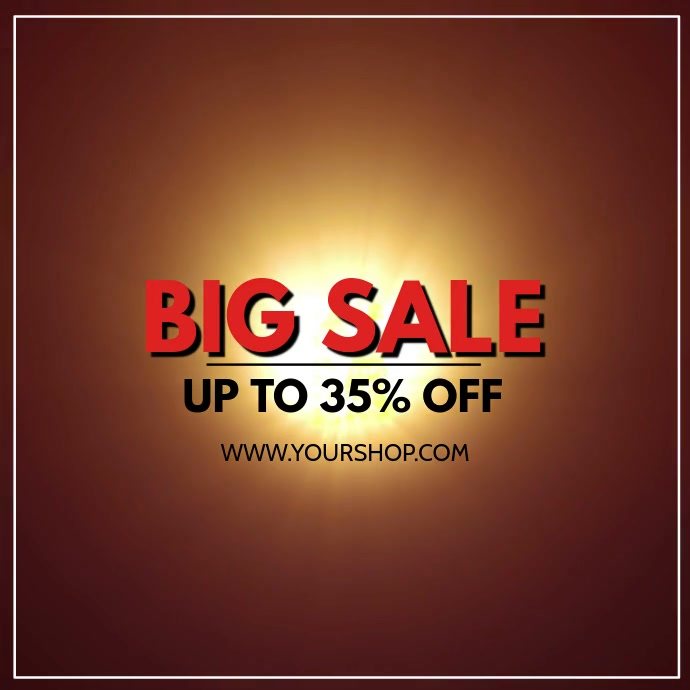Big XXl Mega Sale video explosion sell-out advert promo