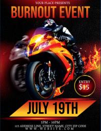 BIKE BURNOUT Event Flyer Template