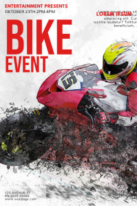 Bike Event Flyer template