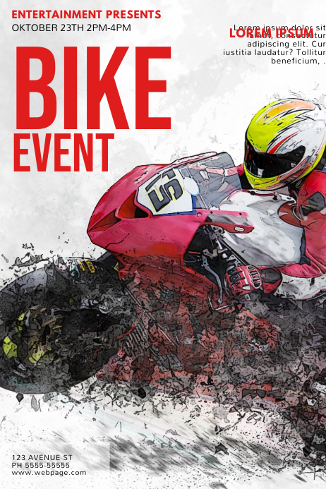 Bike Event Flyer Template Postermywall