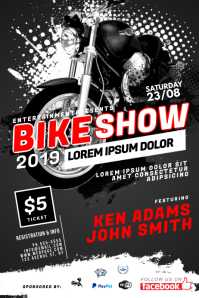 Bike Moto Show Event Flyer Template
