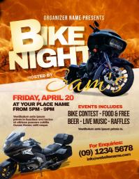 Bike Night Flyer Рекламная листовка (US Letter) template