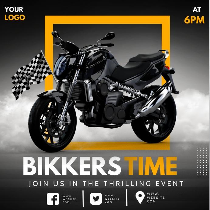 Bike race,motor cycle Instagram-Beitrag template