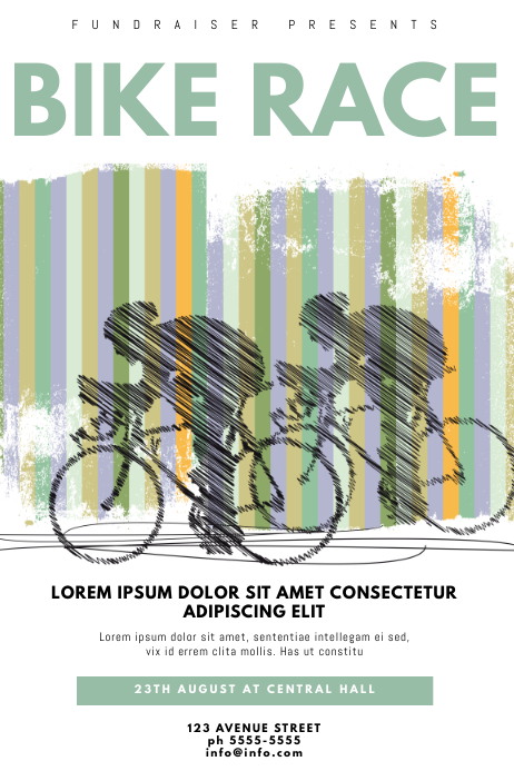 bike race flyer template postermywall
