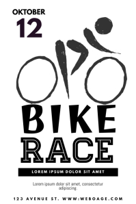130 customizable design templates for bike postermywall