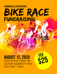 Bike Race Fundraising Flyer