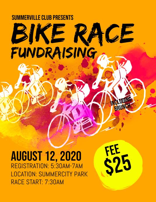 Bike Race Fundraising Flyer
