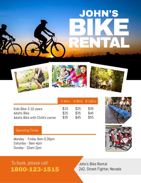 Bike Rental Hire Flyer Template