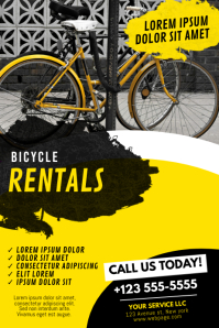 Bike Rentals Flyer Template