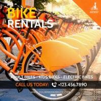 Bike Rentals Video Ad Cuadrado (1:1) template