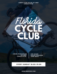 Bike Riding Club Flyer Design Template