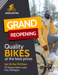 Bike Store Grand Reopening Flyer