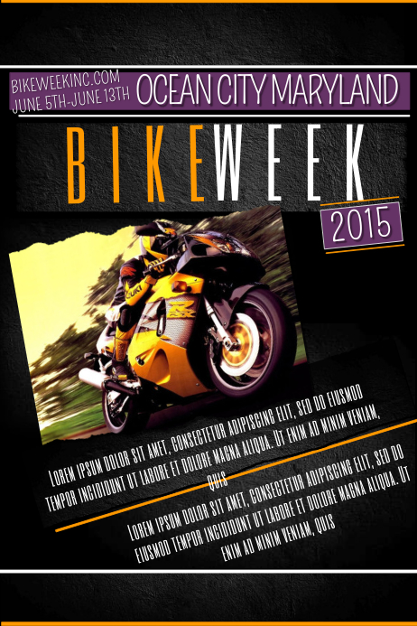 bike week template