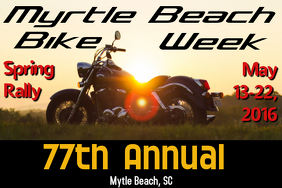 Bike Week Rally Poster Template