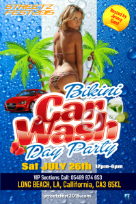bikini car wash day party