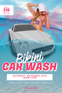 Bikini Car Wash Flyer Design Template