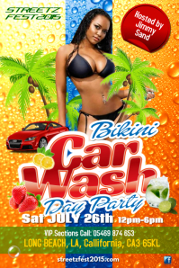 Bikini car wash poster